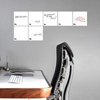 Bílý samolepicí kalendář na zeď pro psaní fixou | Tabulový kalendář - bílý (t19-02)