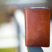 Tmavě hnědá peněženka s pouzdrem na iPhone 6/6s | Kožená peněženka s pouzdrem na iPhone 6