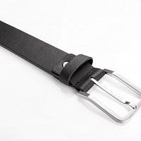 Černý kožený opasek bez prošívání | Kožený pásek černý bez prošívání