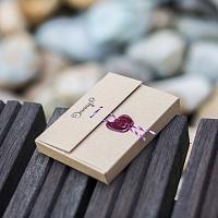 Balení pro slim peněženku | Kožená Slim peněženka tmavě hnědá