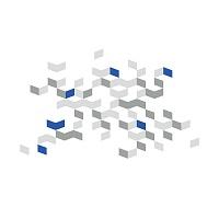 Abstraktní geometrické samolepky na stěnu cubus 072 074 098 detail | Cubus (w237)