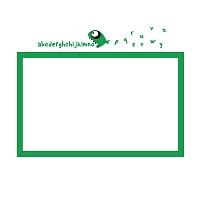 Bílá nalepovací tabule do chlapeckého pokoje detail 062 | Bílá nalepovací tabule piraňa (t14)