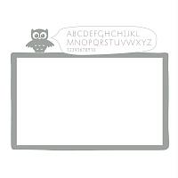 Bílá samolepicí tabule na zeď detail 072 | Bílá nalepovací tabule sova (t10)