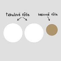 Fugu bílé tabulové samolepky na zeď do pracovny detail | Bílé tabule kruhy malá sada (t25)