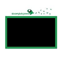 Černá nalepovaci tabule do chlapeckého pokoje detail 062 | Černá nalepovací tabule piraňa (t13)