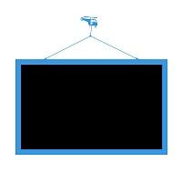 Cerna samolepici tabule s motivem vrtulniku na zed do chlapecke pracovny detail 053 | Černá nalepovací tabule helikoptera(t15)