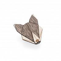 Dámská dřevěná brož Wolf Brooch