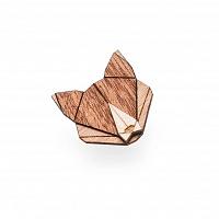 Dámská dřevěná brož Fox Brooch