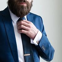 Dřevěná spona na kravatu Sull Clip