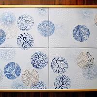"""""""Mikrosvět"""" porcelánový obraz"""
