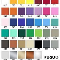 Barevný vzorník | Bílá nalepovací tabule piraňa (t14)