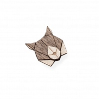 Dámská dřevěná brož Lynx Brooch