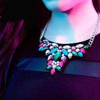 Masivní náhrdelník - Tyrkysová růž   Náhrdelník - Tyrkysová růž