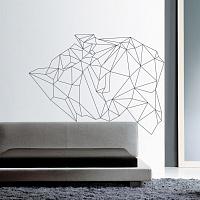 Moderní dekorace na zdi v ložnici nad postelí | Geo (w178)