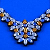 Masivní náhrdelník - Královsky modrá | Náhrdelník - Královsky modrý