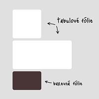 Obdelníkové tabulové folie bílé do pracovny na zeď detail | Bílé tabule obdélníky malá sada (t28)