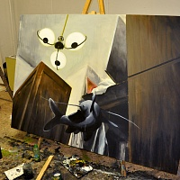akryl na plátně 200x140cm | První den