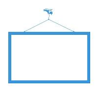 Samolepicí tabule s motive vrtulníku na zdi v chlapecké pracovně detail 053 | Bílá nalepovací tabule helikoptera (t16)