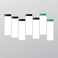 Samolepící tabulový kalendář týdenní velký bílý popisovatelný detail alternativní rozložení | Bílý tabulový kalendář týdenní (t21)