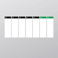 Samolepící tabulový kalendář týdenní velký bílý popisovatelný detail | Bílý tabulový kalendář týdenní (t21)