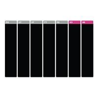 Samolepicí tabulový kalendář týdenní velký černý popisovatelný detail | Černý tabulový kalendář týdenní (t22)