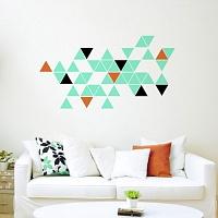 Stylova moderni samolepka na zed trojuhelniky trigonum 055 070 047 | Trigonum (w236)