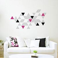 Stylová moderní samolepka na zeď trojúhelníky trigonum 072 070 041 | Trigonum (w236)