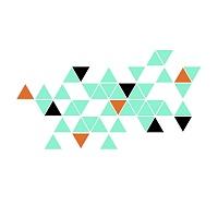 Stylova moderni samolepka na zed trojuhelniky trigonum detail 055 070 047 | Trigonum (w236)