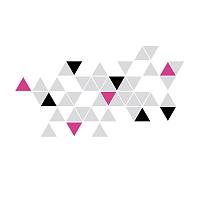 Stylová moderní samolepka na zeď trojúhelníky trigonum detail 072 070 041 | Trigonum (w236)