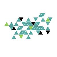 Stylová moderní samolepka na zeď trojúhelníky trigonum detail 695 070 063 | Trigonum (w236)