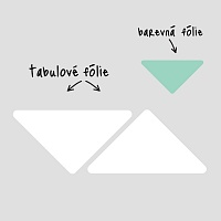 Trojúhelníkové popisovatelné samolepky na zdi v pracovně detail | Bílé tabule trojuhelníky velká sada (t26