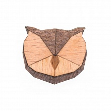 Dámská dřevěná brož Owl Brooch