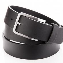 Kožený pásek černý bez prošívání