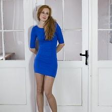 Šaty řasené modré