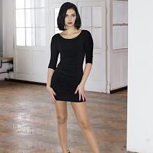 Šaty řasené černé