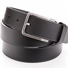 Kožený pásek černý s prošíváním