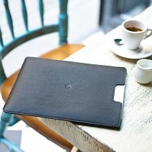 Kožený obal na iPad černý