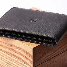 Kožená peněženka s přihrádkou na mince