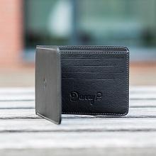 Kožená Slim peněženka černá