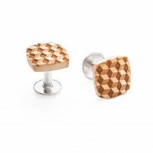 Dřevěné manžetové knoflíčky Cubo