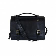 Leather Briefcase - černá