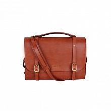 Leather Briefcase - mahagon hnědá