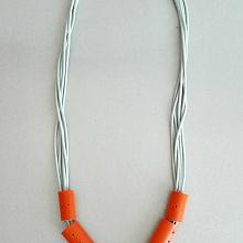 Gumičkový náhrdelník orange