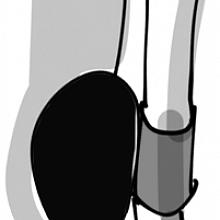 Pen loop černo-šedý (gumička na tušku)