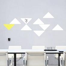Bílé tabule trojuhelníky malá sada (t27)