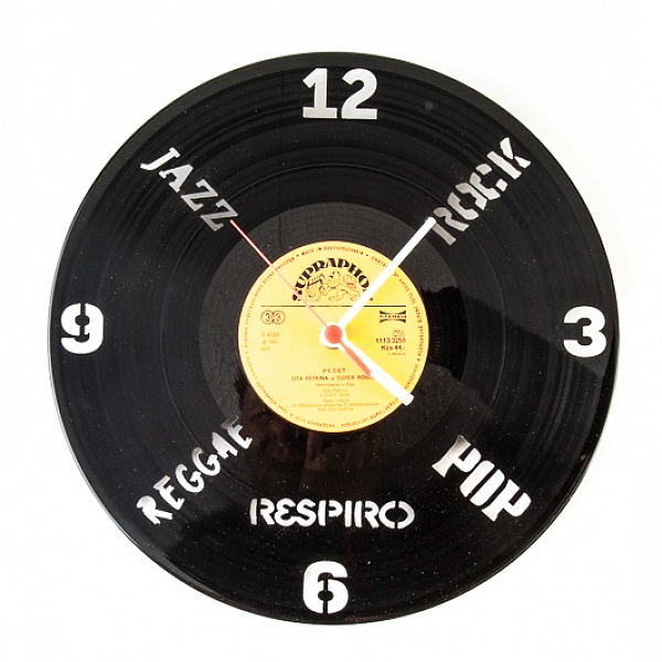Hodiny z gramodesky KLOX MUSIC | Respiro