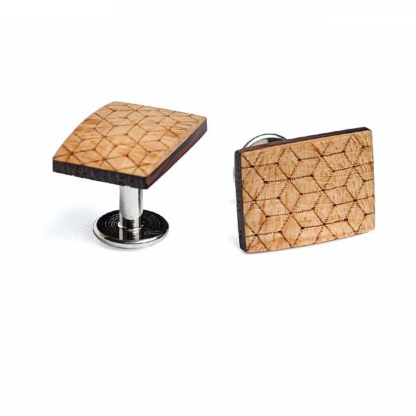 Dřevěné manžetové knoflíčky Virie | BeWooden