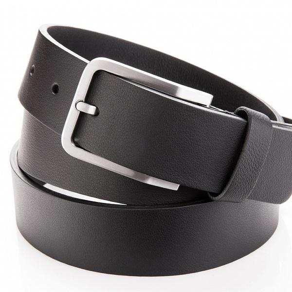 Kožený pásek černý bez prošívání | Danny P.