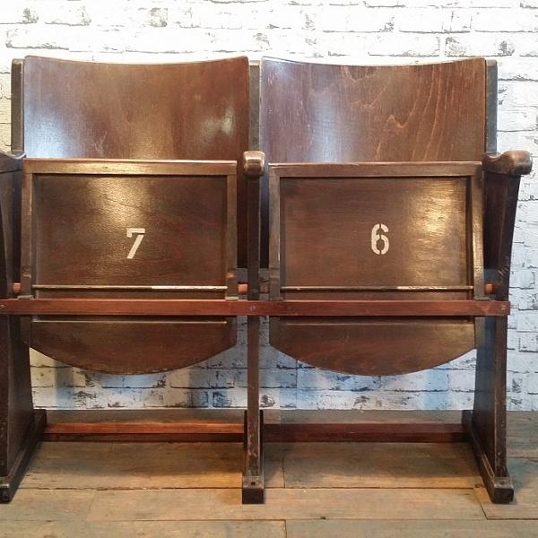 Stará kino sedačka | Industrial Antik