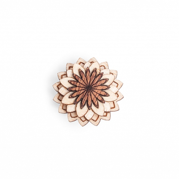 Ozdoba do klopy Cubo Flower | BeWooden